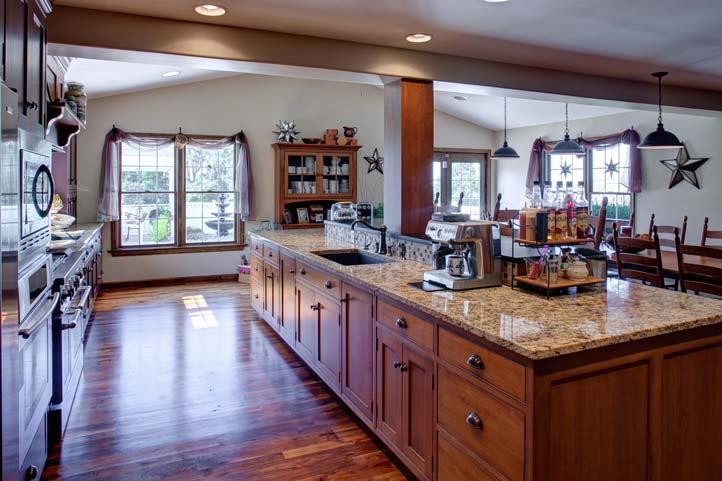 Custom Shaker Style Kitchen Stone Gable Custom Cabinetry